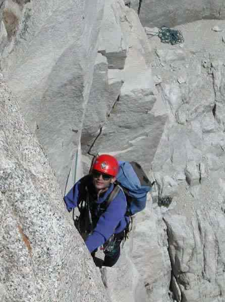 Arun leading Fresh Air Traverse